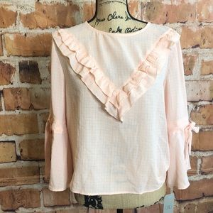 CAD boho western style pink blouse l… 4/$25